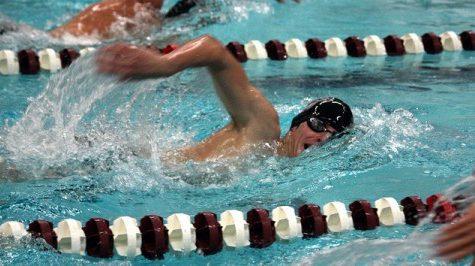 UMass swimming wins dual versus Bryant