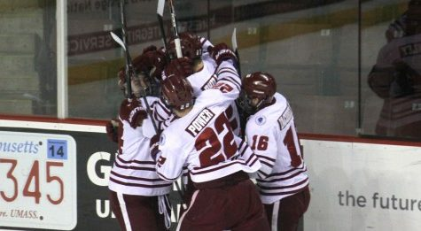 Three first-period goals lift UMass hockey past Merrimack