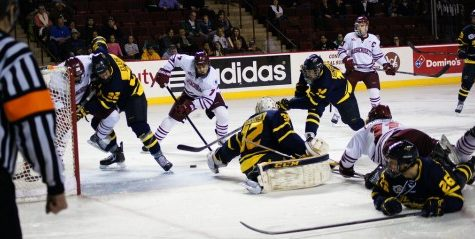 UMass hockey lets one slip away at Merrimack
