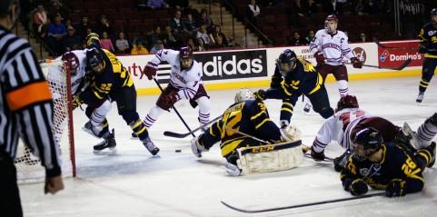 UMass hockey lets one slip away at Merrimack