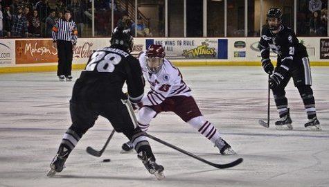 UMass hockey loses to Providence on Senior Night