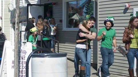 Students took to town for the annual Blarney Blowout at local bars last year. (Shaina Mishkin/Daily Collegian)