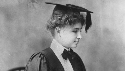 Helen Keller is shown in a graduation photo from Radcliff College in 1904. Her book The Story of my Life was once an inspiration for many but has fallen off many school reading lists. (gsb) 2003 (Diversity)