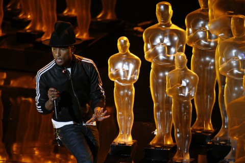 Pharrell Williams performs during the 86th annual Academy Awards on Sunday, March 2, 2014, at the Dolby Theatre at Hollywood & Highland Center in Los Angeles. (Robert Gauthier/Los Angeles Times/MCT)