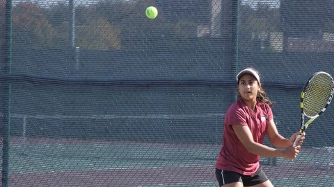 Aarzoo Malik, who won her fourth straight individaul win on Senior Day. (Julia Cardillo/Daily Collegian)