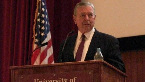 John Ashcroft faces criticism during speech
