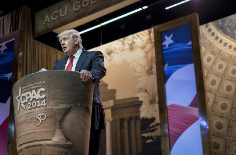 Donald Trump, Chairman and President, The Trump Organization, speaks at the 2014 Conservative Political Action Conference (CPAC) at the Gaylord Resort in Oxon Hill, MD, Thrusday, March 6, 2014. This year is the American Conservative Unions 50th anniversary and the theme is Getting it Right for 50 Years. (Pete Marovich/MCT)