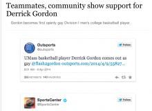 Storify: Teammates, community show support for Derrick Gordon