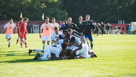 UMass men's soccer earns first win of the season in emotional home opener