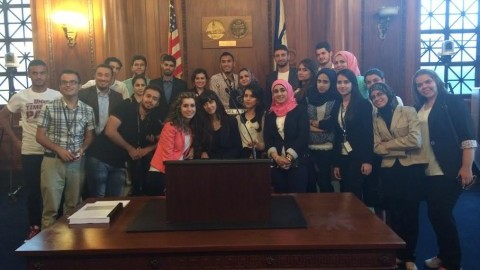 Some of the Iraqi Young Leaders Exchange Program. (Photo Courtesy of Terry Karuoya)