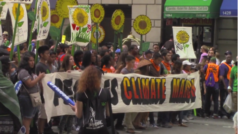 People's climate march: Student voices