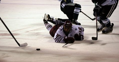 UMass' second line playing and succeeding with young talent early in the season.