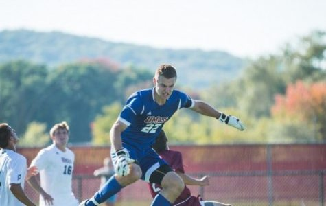 UMass men's soccer loses fourth straight in a 2-1 overtime loss to Hartford on Wednesday night.