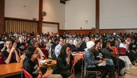 UMass community gathers for diversity town hall meeting