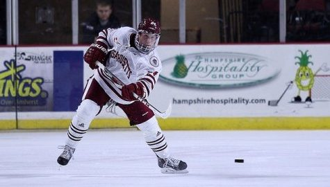 Dennis Kravchenko at home as a new member of UMass hockey