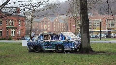 Drunk driving awareness sculpture (Collegian File Photo)