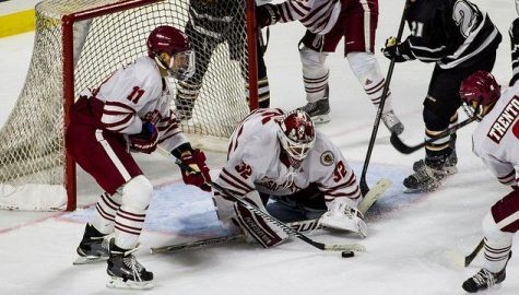 Dill taking advantage of playing time in net for UMass hockey