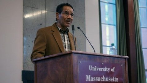 Wilbert Rideau speaks on operating a press behind bars at UMass panel