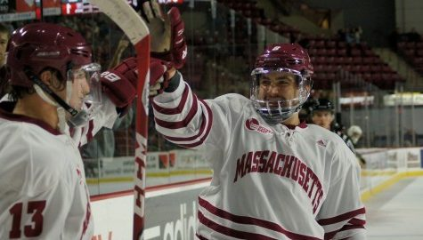 UMass hockey bands together for 'Movember'