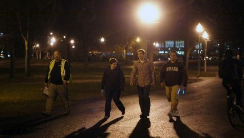 Students and UMPD work together during the annual 'Walk for Light'