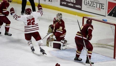 Struggling Hockey East foes collide