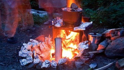 Local man issued warning for grilling his tinfoil-wrapped clothes in apparent ritual