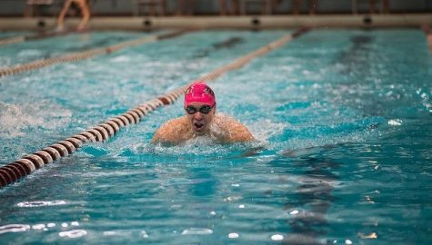 Hao Luong shines for UMass men's swimming and diving on Senior Day, prepares for end of college career