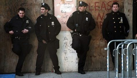 Police turn backs on New York City