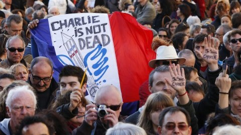 Thousands of people gather during a demonstration march in Marseille, France, on Saturday, Jan. 10, 2015, in support of the victims of this week's twin attacks in Paris. Hundreds of extra troops are being deployed around Paris after three days of terror in the French capital killed 17 people and left the nation in shock. (Launette Florian/Maxppp/Zuma Press/TNS)