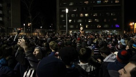 VIDEO: Super Bowl XLIX celebration at UMass
