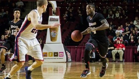 Jabarie Hinds shows off his scoring ability for UMass