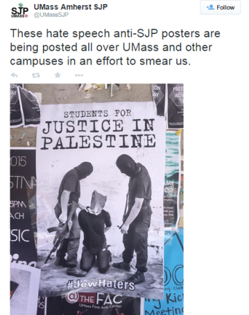 Students for Justice in Palestine, administration react to inflammatory posters