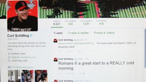 Curt Schillings Twitter caught the attention of media after he responded to users' offensive messages about his daughter. (Christina Yacono/Daily Collegian)