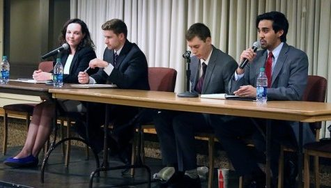 Student trustee debate informs on issues despite unsteady moderation