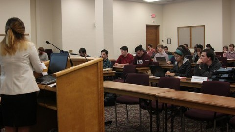 An SGA general body meeting. (Christina Yacono/Daily Collegian)