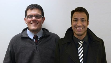 Outsider candidates Rocco Giordano and Dhananjay (Danny) Mirlay Srinivas intent on shoring up student-administration relationship, getting more voices heard