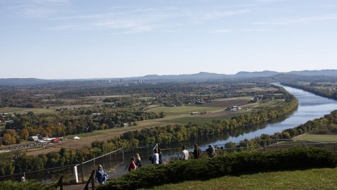 The view of the Pioneer Valley from the top of Mt. Sugarloaf (Collegian file photo)