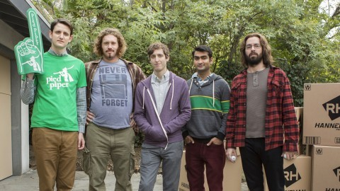 From left: Zach Woods, T.J. Miller, Thomas Middleditch, Kumail Nanjiani, and Martin Starr in
