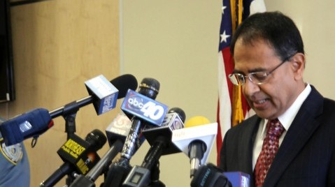 Chancellor Kumble Subbaswamy at an October 2012 press conference about the alleged gang rape. (Collegian File Photo)