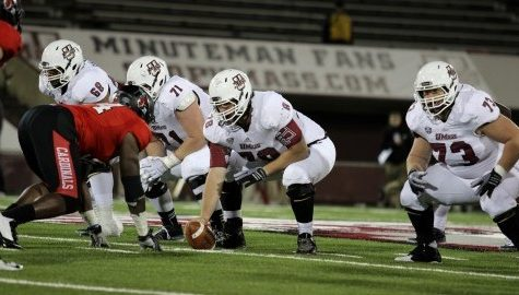 UMass football fall camp day four: Veteran offensive line boasts chemistry, looks to improve run blocking
