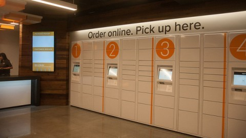The new Amazon @ UMass virtual bookstore, located in the Campus Center. (Shannon Broderick/Daily Collegian)