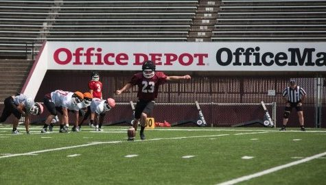 UMass football fall camp: Kicking competition between Blake Lucas, Mike Caggiano nearing decision