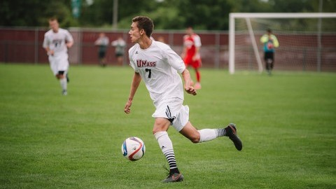 Alex Desantis played well on Sunday, but couldnt get UMass the win.   (Judith Gibson-Okunieff)