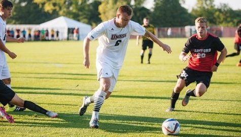 UMass men's soccer holds on late to capture first win of 2015 against Hartford