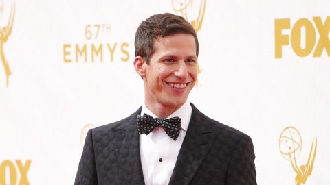 Andy Samberg arrives for the 67th Annual Primetime Emmy Awards at the Microsoft Theater in Los Angeles on Sunday, Sept. 20, 2015. (Jay L. Clendenin/Los Angeles Times/TNS)