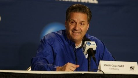 Kentucky head coach John Calipari answers questions from the media during a NCAA Tournament news conference on Friday, March 20, 2015, at the KFC Yum! Center in Louisville, Ky. (Mark Cornelison/Lexington Herald-Leader/TNS)