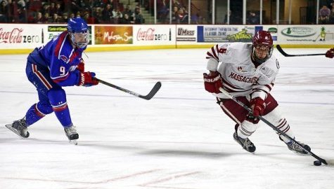 Dominic Trento picks up where he left off last season for UMass hockey