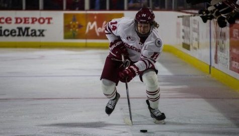 Austin Plevy's hat trick leads UMass hockey to season-opening win over Colorado College