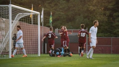 UMass men's soccer stuns URI behind rebound off late penalty kick Wednesday