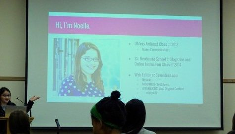 UMass alumna and Seventeen.com web editor Noelle Devoe gives TechTalk